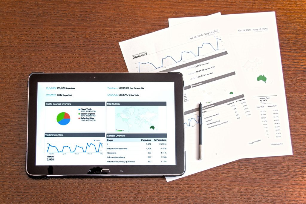Tablet with Evaluations Reports